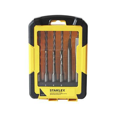 Juego de Brocas y Puntos para Concreto Stanley  12 Piezas