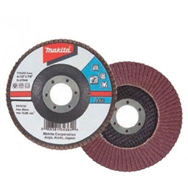 DISCO TRASLAPADO 115 X 22 Gr. 40 - ZIRCON/METAL/ACERO INOX. Makita Makita D-53724