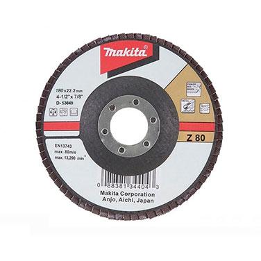 DISCO TRASLAPADO 180 X 22 Gr.80 ZIRCON/METAL/ACERO INOX. Makita Makita D-53849