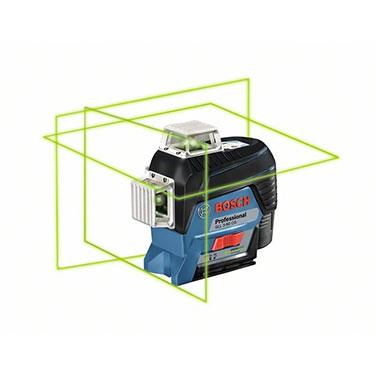 Nivel láser Bosch GLL 3-80 CG Alimentación de tensión 12 V, 4 x 1,5-V-LR6 (AA)