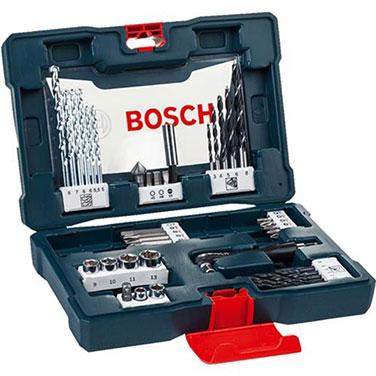 Maletín V-LINE para Taladrar y Atornillar Bosch 2607017396 Azul- 41 Unidades