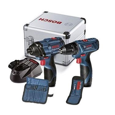 Kit Atornillador + Llave de Impacto Bosch GDR + GSR 120 Li 12 V