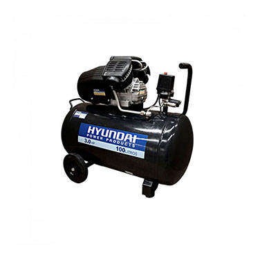 Compresor Monofásico 115PSI Correa Hyundai 78HYAC100 3HP 100L
