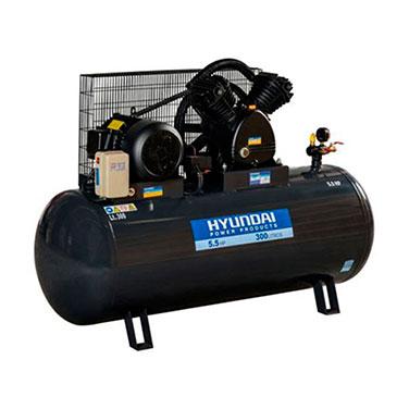 Compresor Trifásico  Correa Hyundai 78HYAC300 5.5 HP 300 L