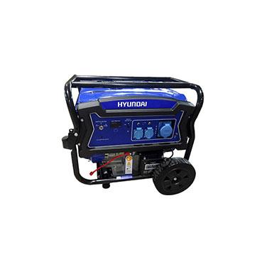 Generador Gasolina P. Eléctrica Monofásico Abierto C/Ruedas Hyundai 82HYG11050E 457 cc