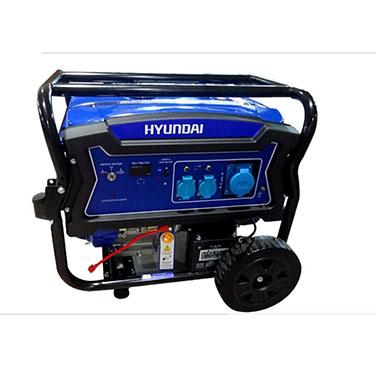 Generador Gasolina P. Eléctrica Monofasíco Abierto Con Ruedas Hyundai 82HYG9250E 6/6.5 KW/KVA