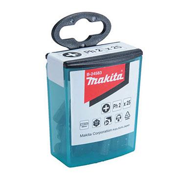 SET PUNTAS ATORNILLAR EN CAJA Flip top case (25pcs./set).  S2 T 15-25mm - Makita T20 x 25 mm