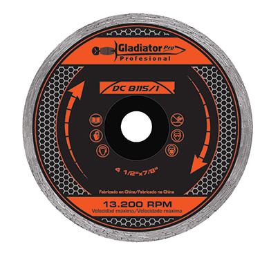 Disco diamantado continuo 4 1/2 Gladiator DC 8115/1 115 X 22MM