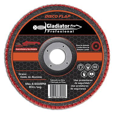 Disco Flap acero y madera 4 1/2 Gladiator DFA 811560 Gr 60