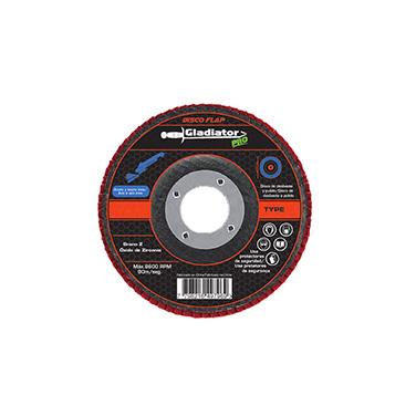 Disco flap Acero inoxidable 4 1/2 Gladiator DFZ 811540 Gr 40