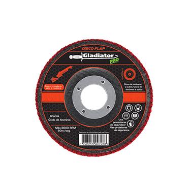 Disco flap Acero y madera 4 1/2 Gladiator DFA 8115100 Gr100