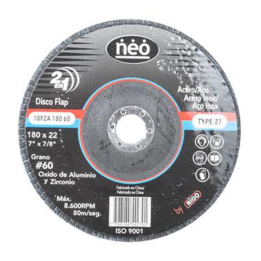 Disco flap Acero inoxidable 7 NEO 10FZA18060 Gr 60