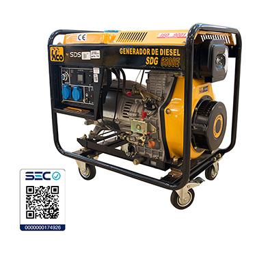 Generador Diesel SDS Power SDG6500E 5.0kW